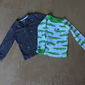 5/$25 Carter's long sleeve shirts
